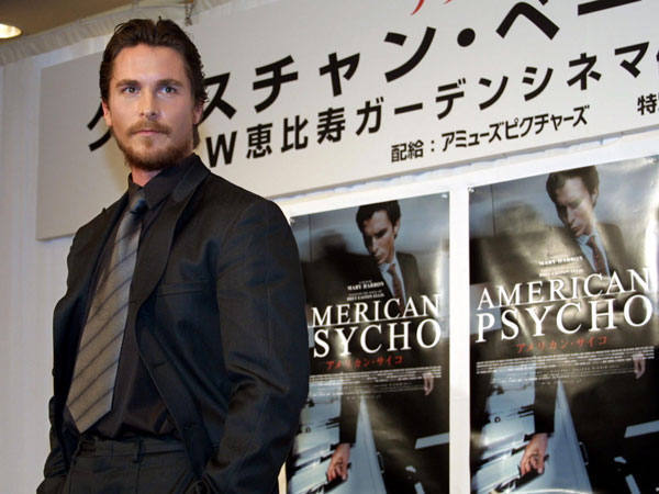 "The actor poses at the premiere of ""American Psycho"" in Tokyo in June 2001. Throughout the filming of the movie, Bale weighed 185 pounds."