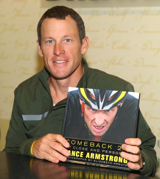 Lance Armstrong promotes 'Comeback 2.0: Up Close and Personal' on December 1, 2009 in New York City.