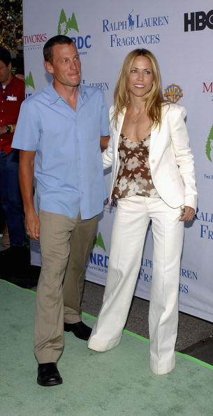 Pro-cyclist Lance Armstrong and musician Sheryl Crow attend the 'Earth To LA - The Greatest Show On Earth' event benefitting the Natural Resources Defense Council on May 6, 2004 in Los Angeles, California.