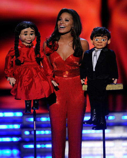 Alyse Eady, Miss Arkansas, performs a ventriloquist act in the talent competition during the 2011 Miss America Pageant at the Planet Hollywood Resort & Casino January 15, 2011 in Las Vegas, Nevada. Eady went on to be the first runner-up.