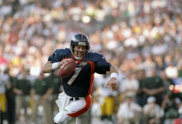 John Elway (QB) Broncos - First Year: 1983 - Career: 16 seasons - Drafted: Round 1, Pick 1