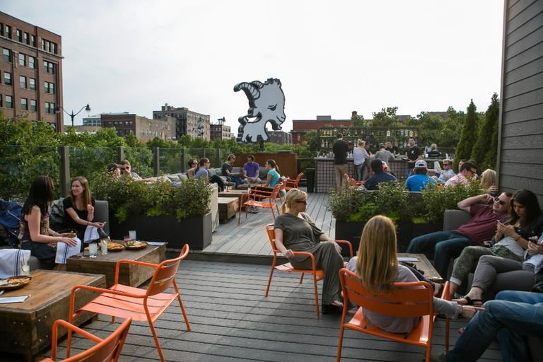 The Rooftop Bar At Little Goat Diner 820 W Randolph St Check Out