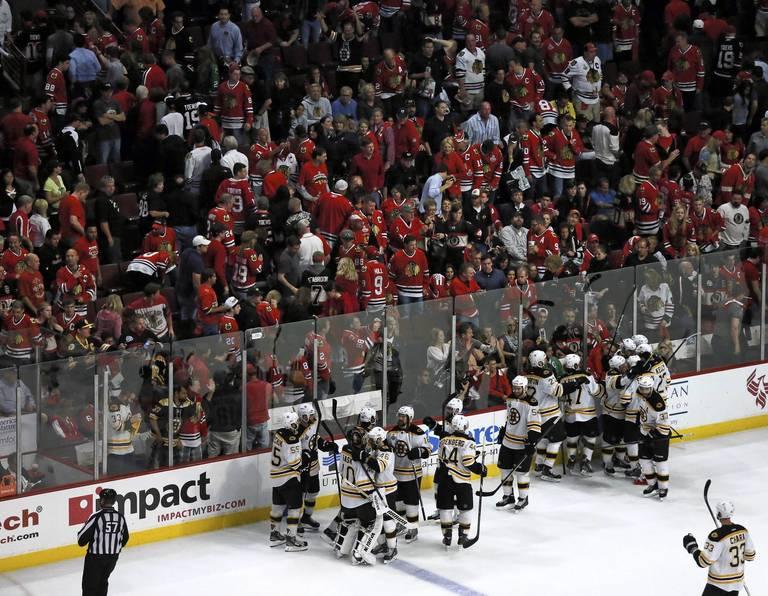 Game 2 photos: Bruins 2, Blackhawks 1 (OT) -- Chicago Tribune