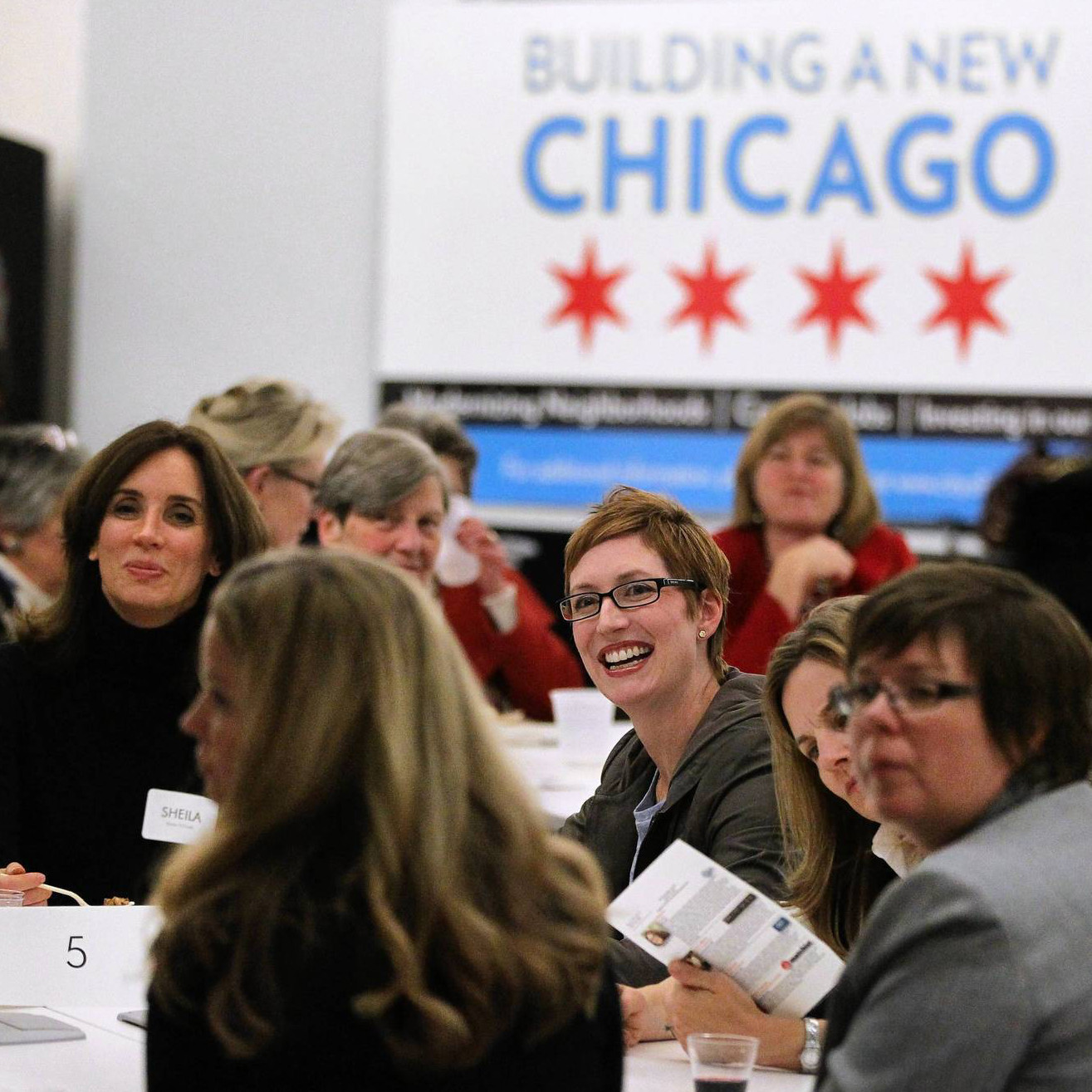 Women-led startups networking with more established