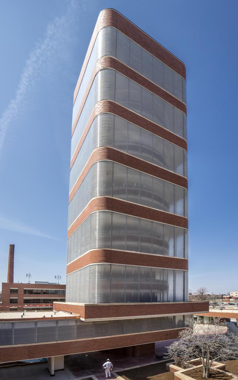 Exterior Of Frank Lloyd Wrightu0027s SC Johnson Research Tower.