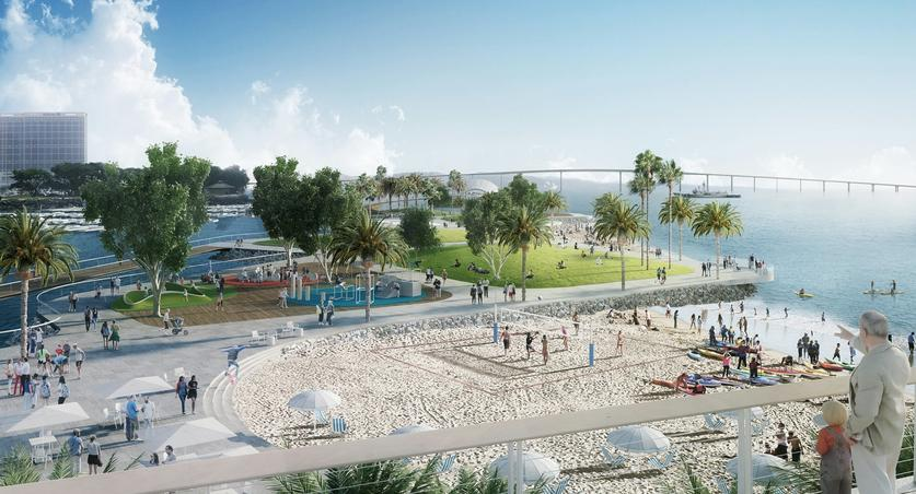 North Embarcadero Marina Park Would Be Vastly Redeveloped Along With Seaport Village In Several Of The Plans Under Consideration By Port District