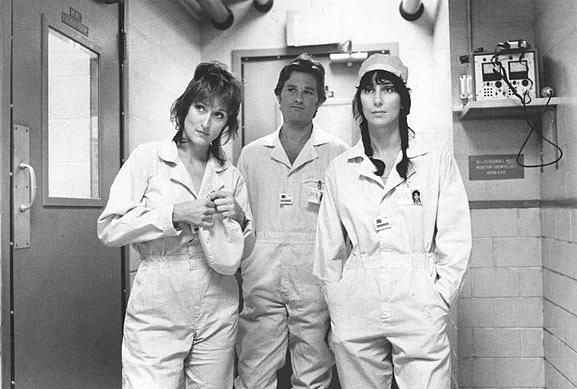 Meryl Streep, left, Kurt Russell and Cher in 'Silkwood'