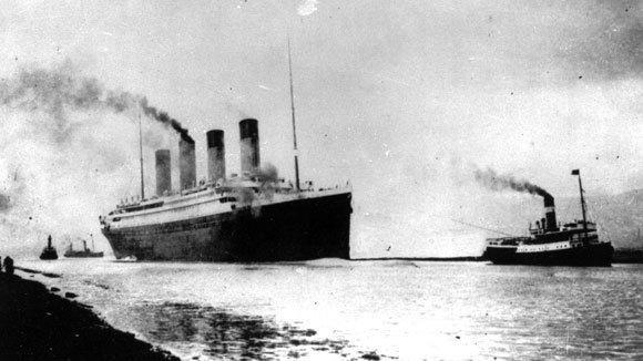 Titanic departs Southampton, England, on April 2, 1912.
