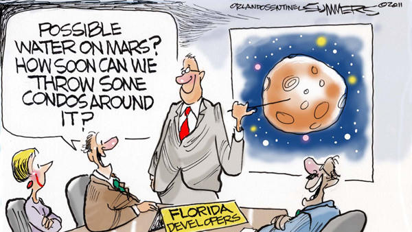 Dana Summers Cartoon: Environment: Water on Mars