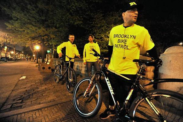 Knights with shining pedals: bike patrol will escort you home