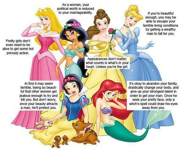 On princesses fairy tales sex roles