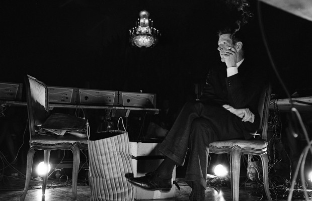 Composer John Cage during his concert held at the opening of the National Arts Foundation, Washington DC, 1966. (Rowland Scherman / Getty Images)