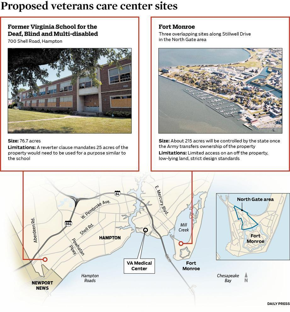 Hampton officials ushering proposed veterans center away ... on quantico road map, virginia road map, windsor road map, park county road map, north fort myers street map, fredericksburg road map, la crosse road map, charlottesville road map, redstone arsenal road map, west point road map, galax road map, rock island arsenal road map, great falls road map, gloucester road map, yorktown road map, west monroe la map,