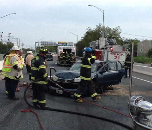 4-vehicle Accident Near Harbor Tunnel Backs Up 895 Traffic