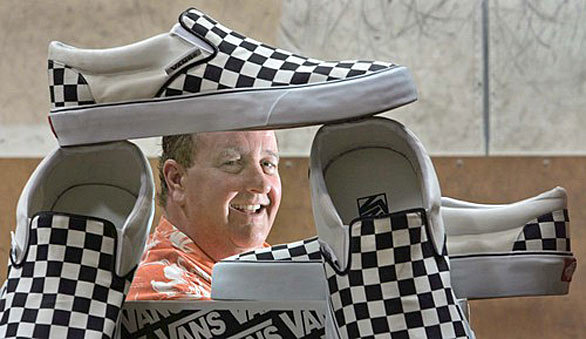 Steve Van Doren At Vans Headquarter In Cypress La Times