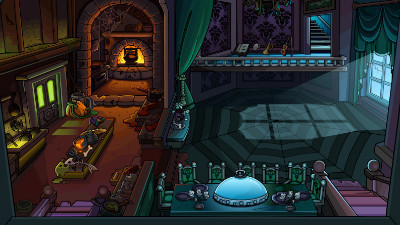 Club Penguin Halloween Party to feature Haunted Mansion