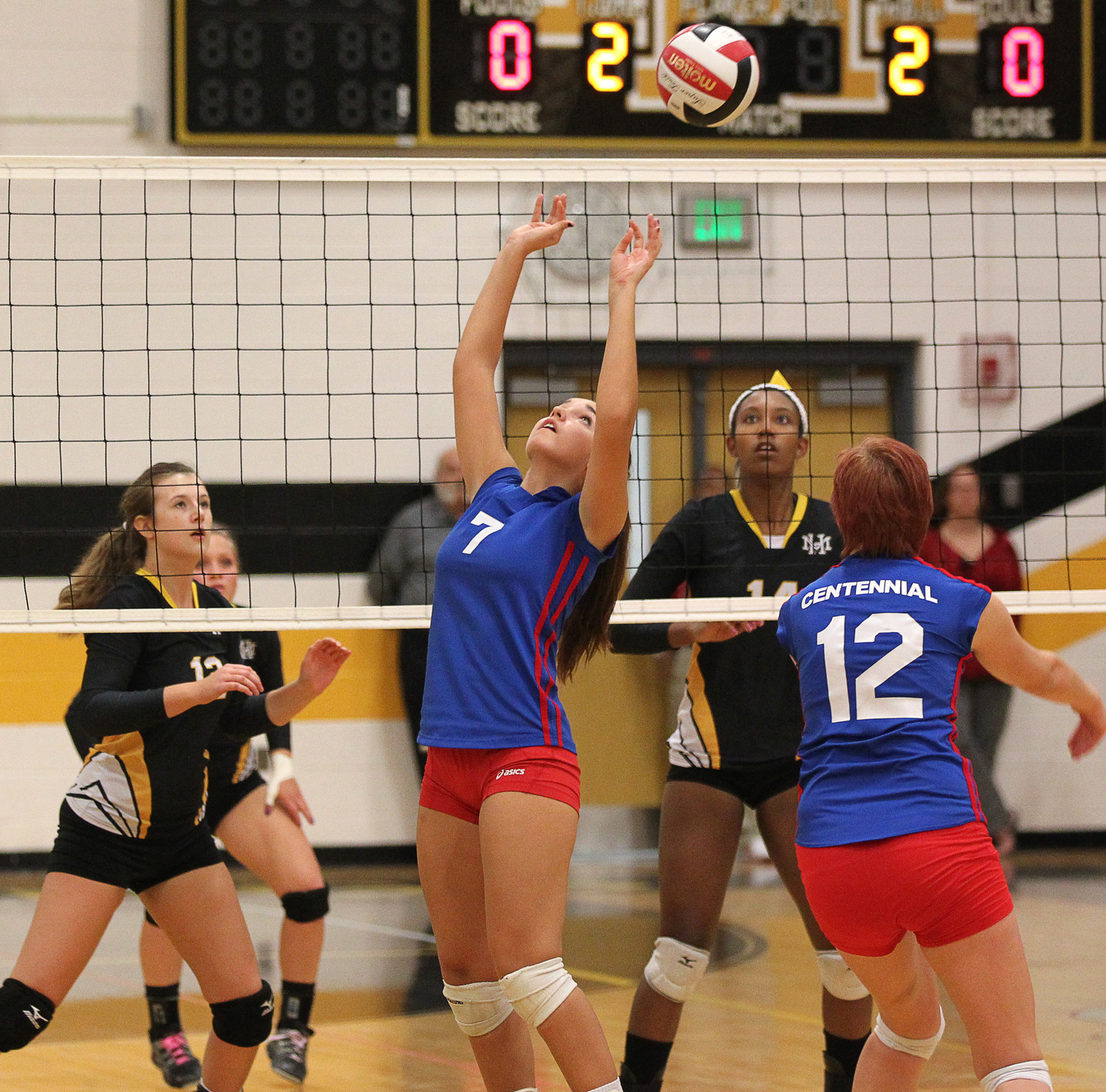 Centennial volleyball clinches county title with three-set ...