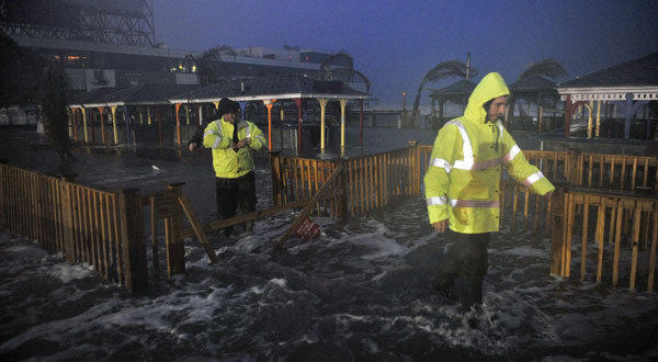 A Destructive Evening Freak Storm In Penang: Cyclone Sandy Storms Ashore In New Jersey, Battering The