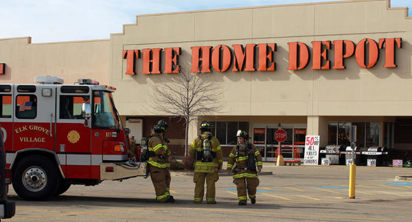 Elk Grove Village Police And Fire Department Personnel Respond To A Possible Threat At The