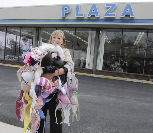 plaza ford collects bras for breast cancer awareness baltimore sun. Black Bedroom Furniture Sets. Home Design Ideas
