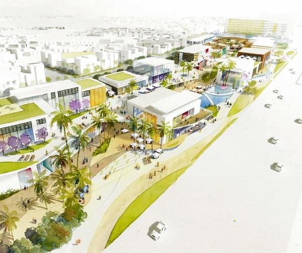 A Rendering Of The Proposed Pacific City Project In Downtown Huntington Beach Djm Capital Partners