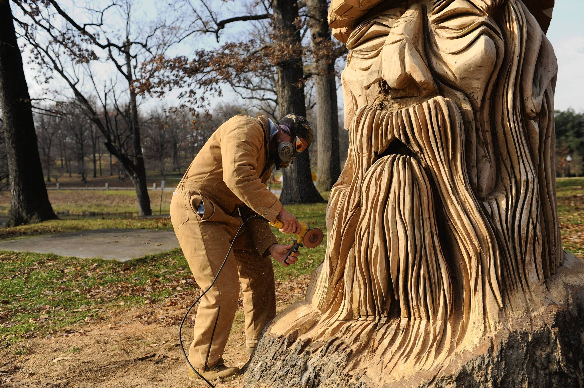 Chainsaw Artist Mark Acton Turns Tree Stumps Into Mythical
