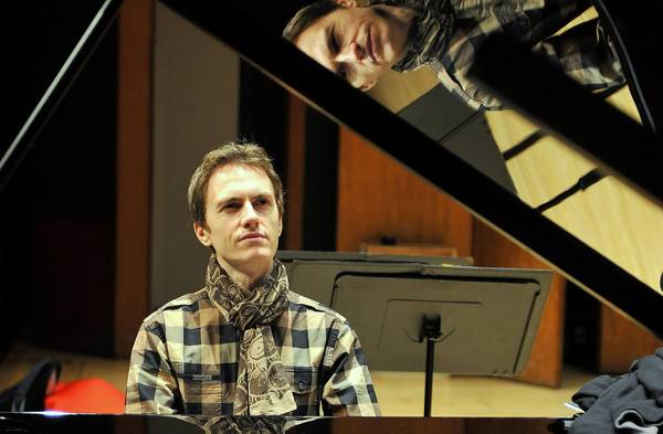 French pianist Alexandre Tharaud plays during a rehearsal in 2011.