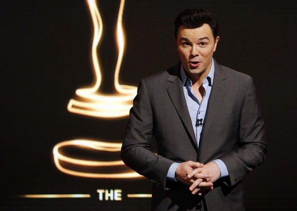 Seth MacFarlane at the announcement of the 2013 Oscar nominees. (Al Seib / Los Angeles Times)