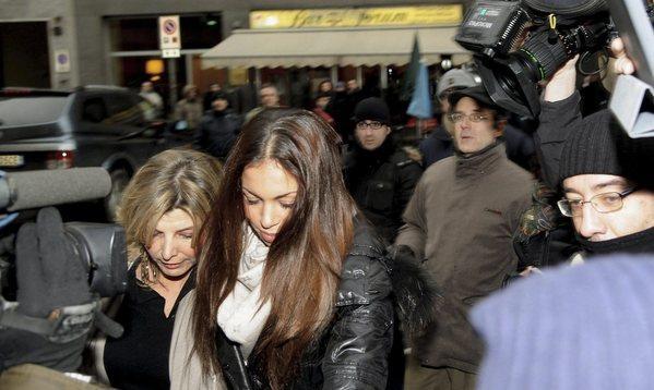 Karima el-Mahroug arrives at court for Berlusconi trial
