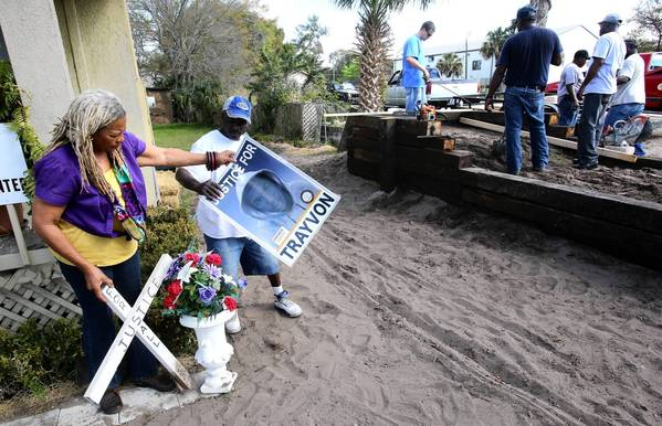 Trayvon Martin memorial: Trayvon Martin memorial being ...