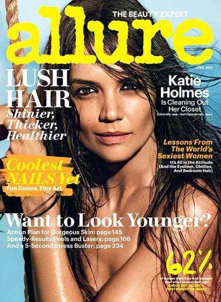 Magazine cover: Katie Holmes poses for Allure