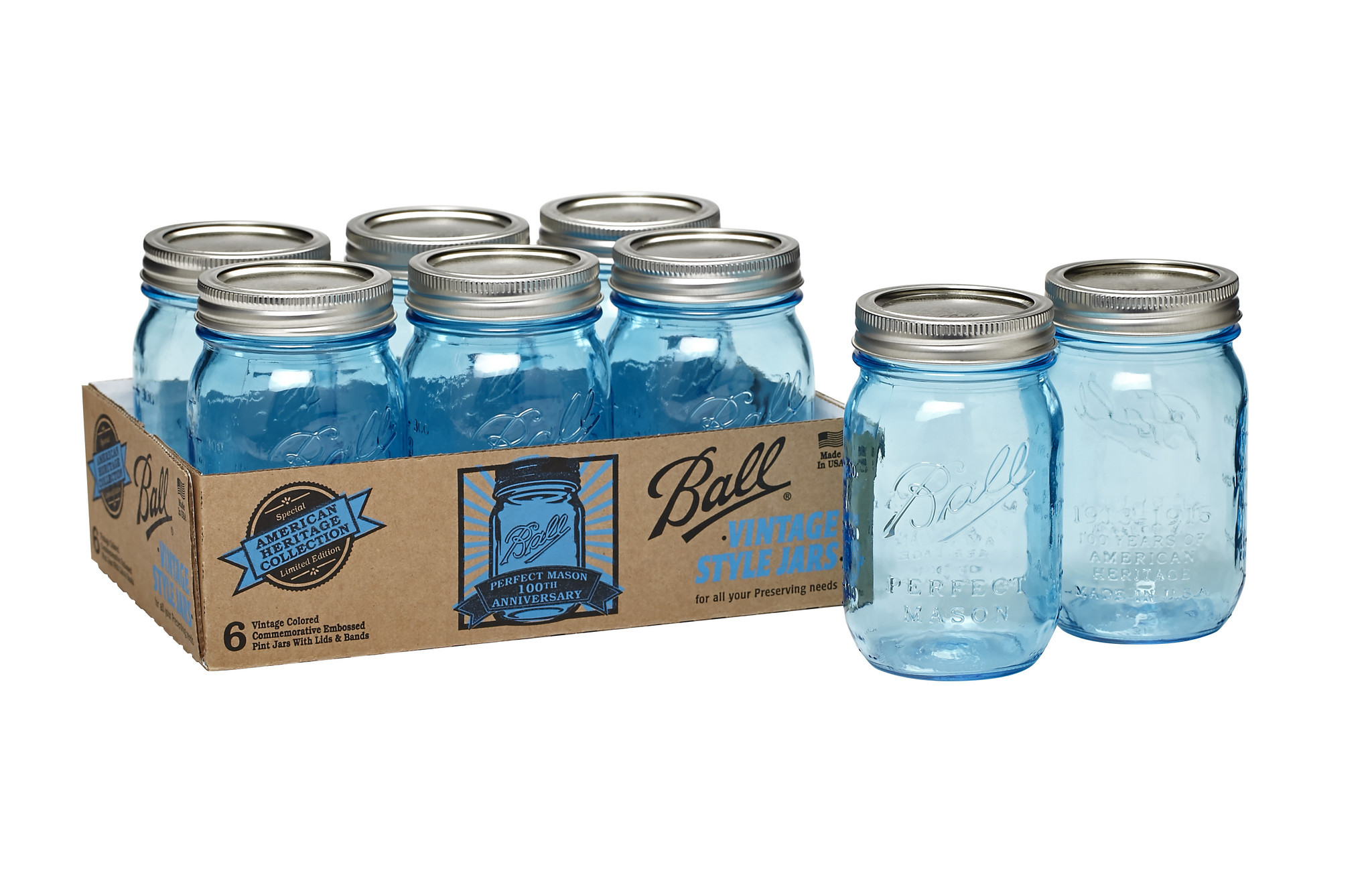 Ball Canning Jars 100th Anniversary Celebrates Clic Blue Look And Logo On Mason Daily Press