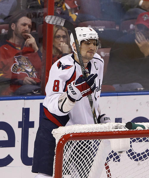 7710093723086c Alex Ovechkin notches hat trick as Capitals down Panthers 4-3 Saturday at  BB&T Center - tribunedigital-sunsentinel