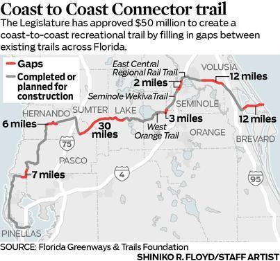 Florida Coast To Trail Bike Would Stretch Across Center Of State Orlando Sentinel