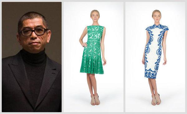 L A Based Designer Tadashi Shoji Left Celebrates 30 Years In The Business
