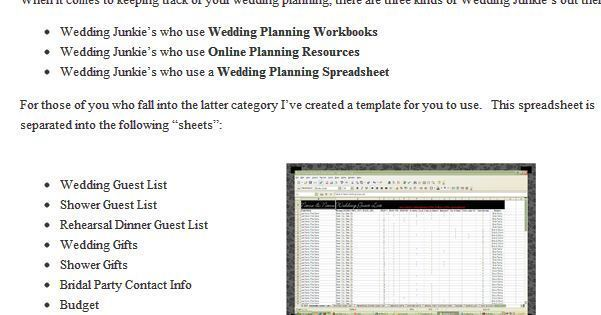 excellent uses for excel for wedding planning baltimore sun