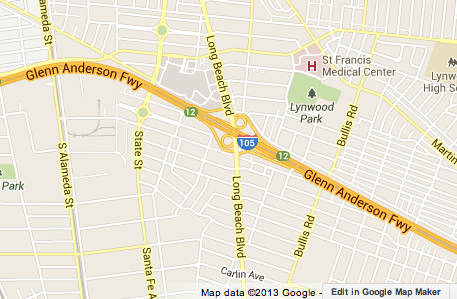 Los Angeles Freeway Traffic Map.Fatal Motorcycle Accident Snarls Traffic On Eastbound 105 Freeway