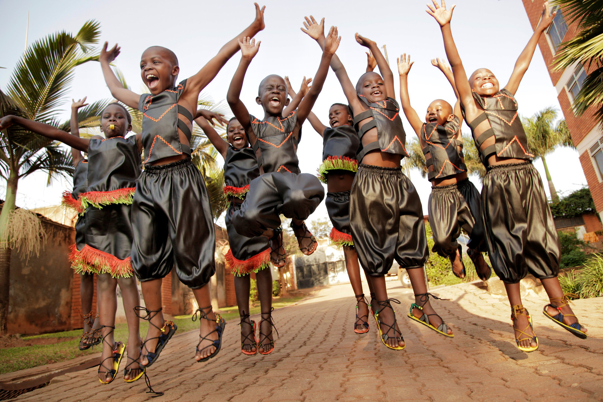 Young Zulu Children Kids Singing Dance Group Entertain