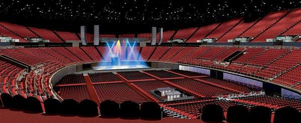 Inglewood 39 s forum aims to rock rival staples with major - Madison square garden concert capacity ...
