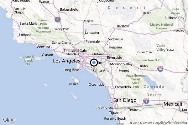 Yorba Linda Map Earthquake: 2.5 quake strikes near Yorba Linda   latimes Yorba Linda Map