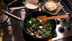 Indian spiced chard and potatoes