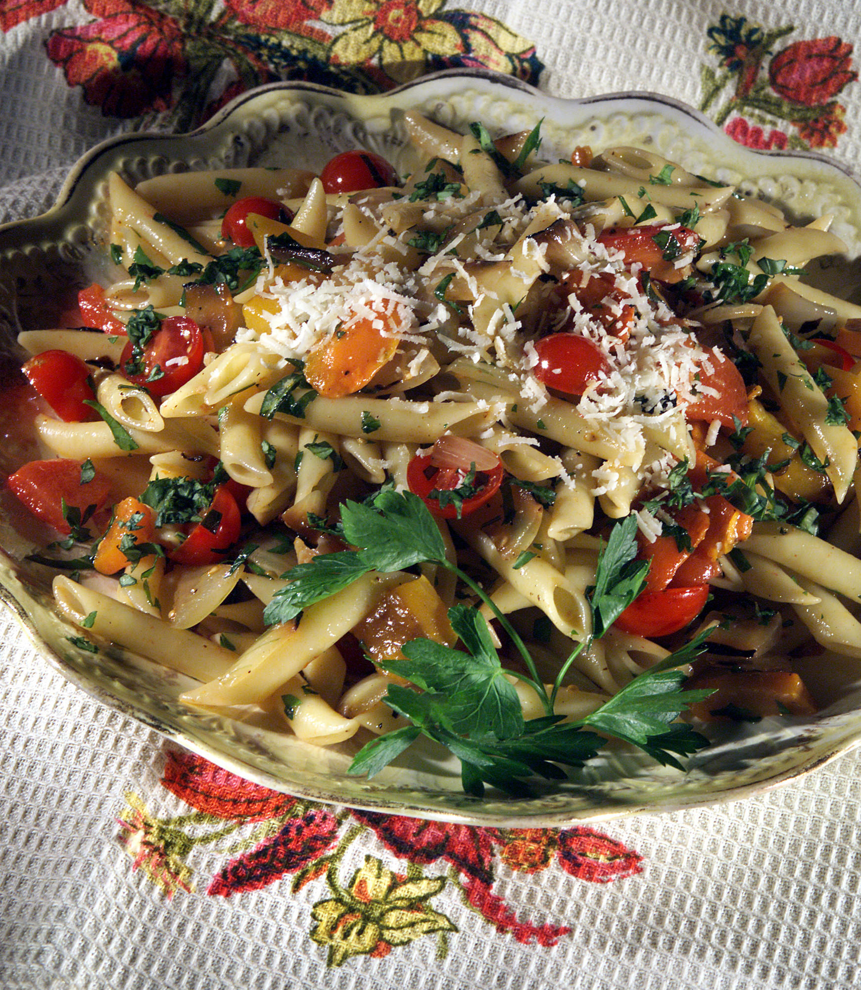 Barbecue Pork And Penne Skillet Recipe: Recipe: Penne With Grilled Vegetables