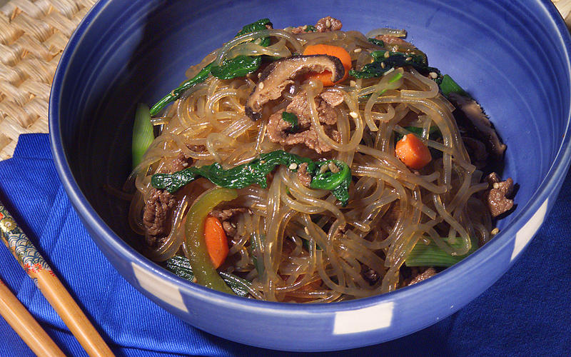 Sweet Potato Noodles (Chapchae)