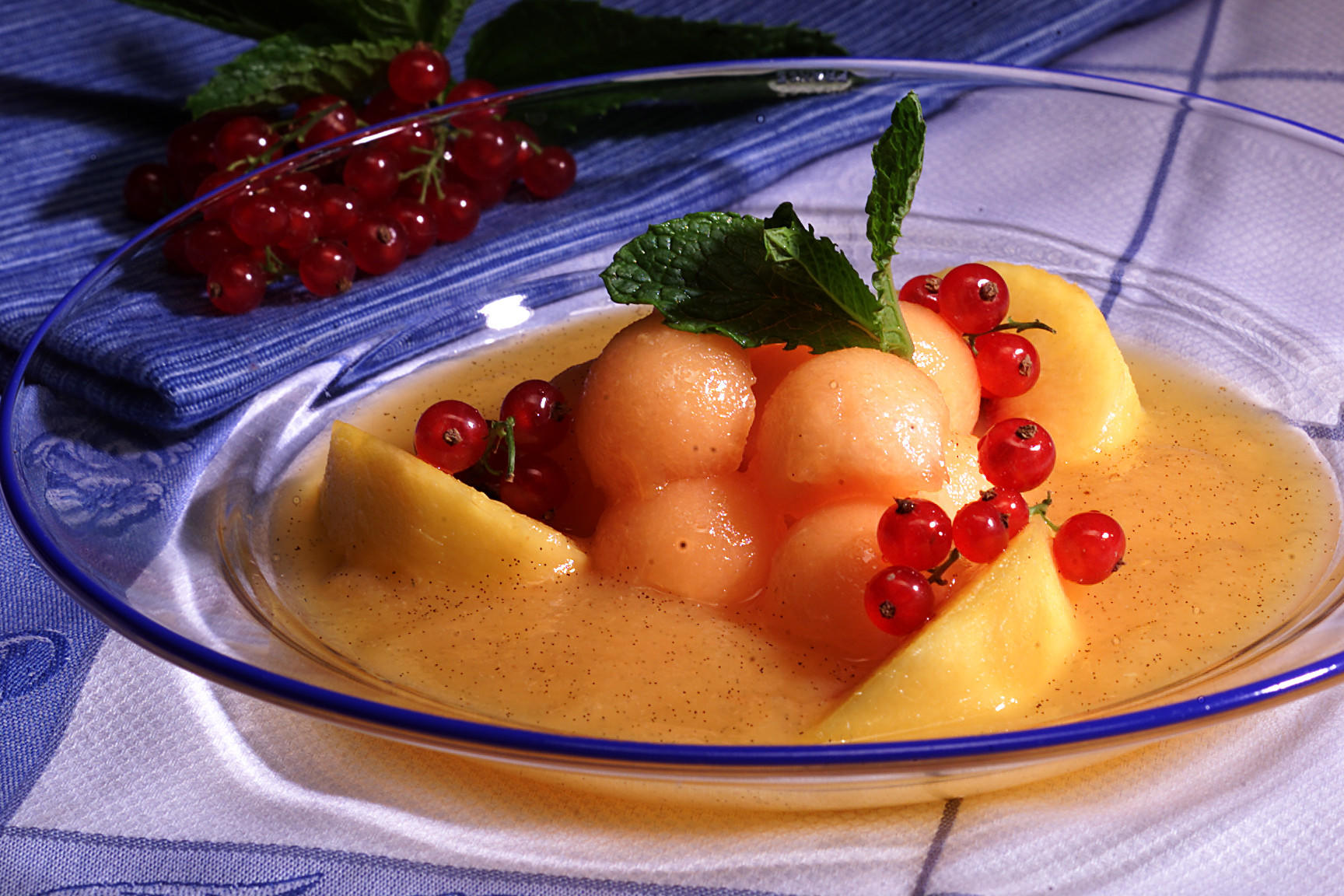 Melon and Peach Soup