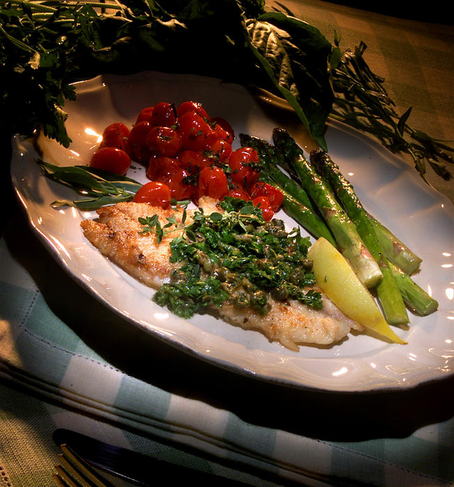 Pan-crisped Filet of Sole With Capers, Lemon and Parsley