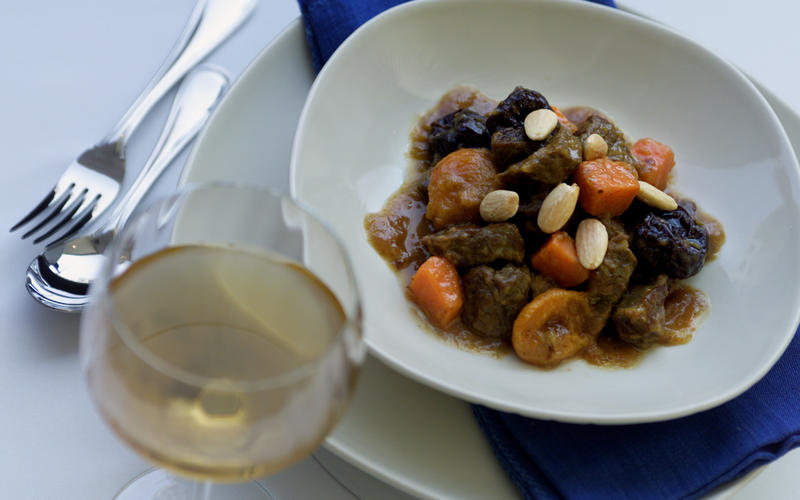 Lamb tajine with apricots, saffron and ginger