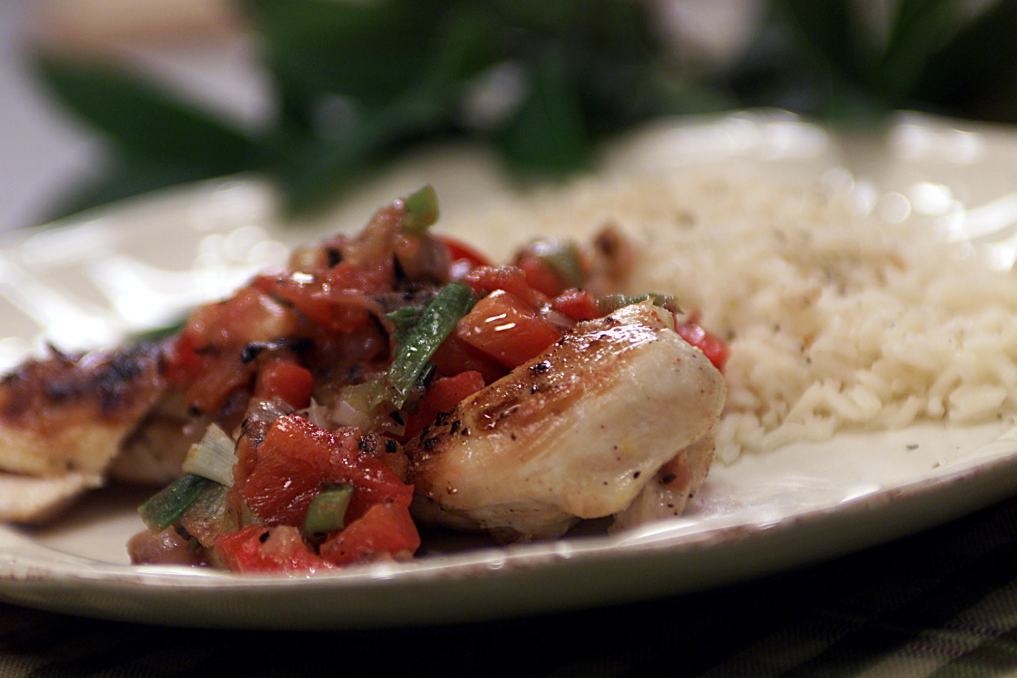 Spicy Chicken Breasts With Grilled Salsa