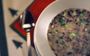 Creamy broccoli and wild rice soup