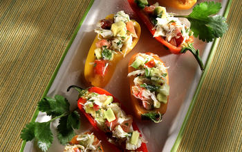 Baja Crab-Stuffed Peppers