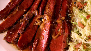 Corned Beef in Bourbon-Brown Sugar Sauce